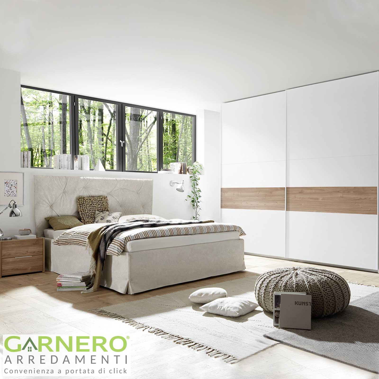 Armadi Ikea Ante Scorrevoli Opinioni.Camera Completa Alpaca Bianco Noce Letto Comodini Armadio Ante