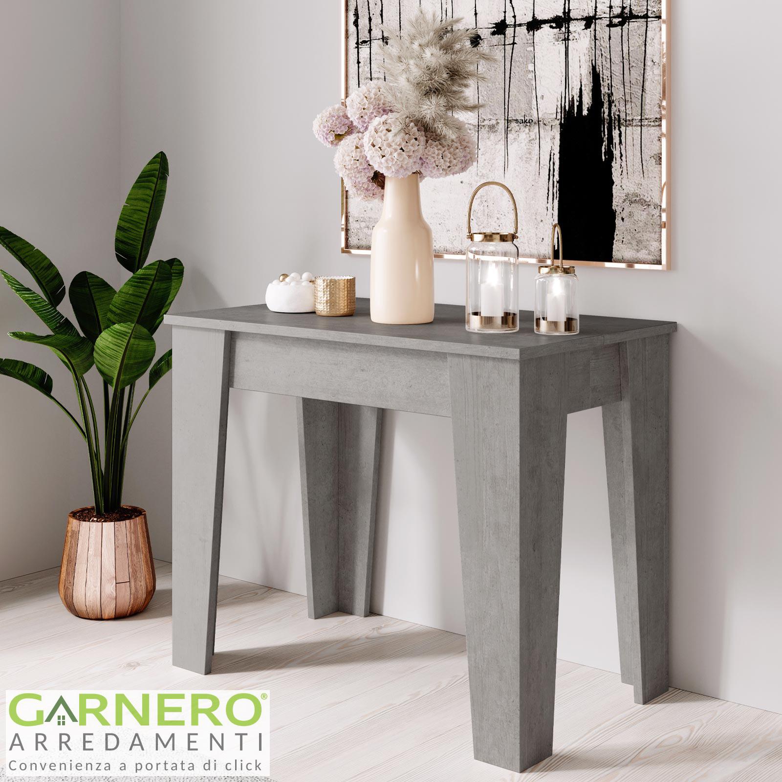 Tavolo Consolle Allungabile Grace Gihome Cemento Moderna Salvaspazio 14 Posti Ebay