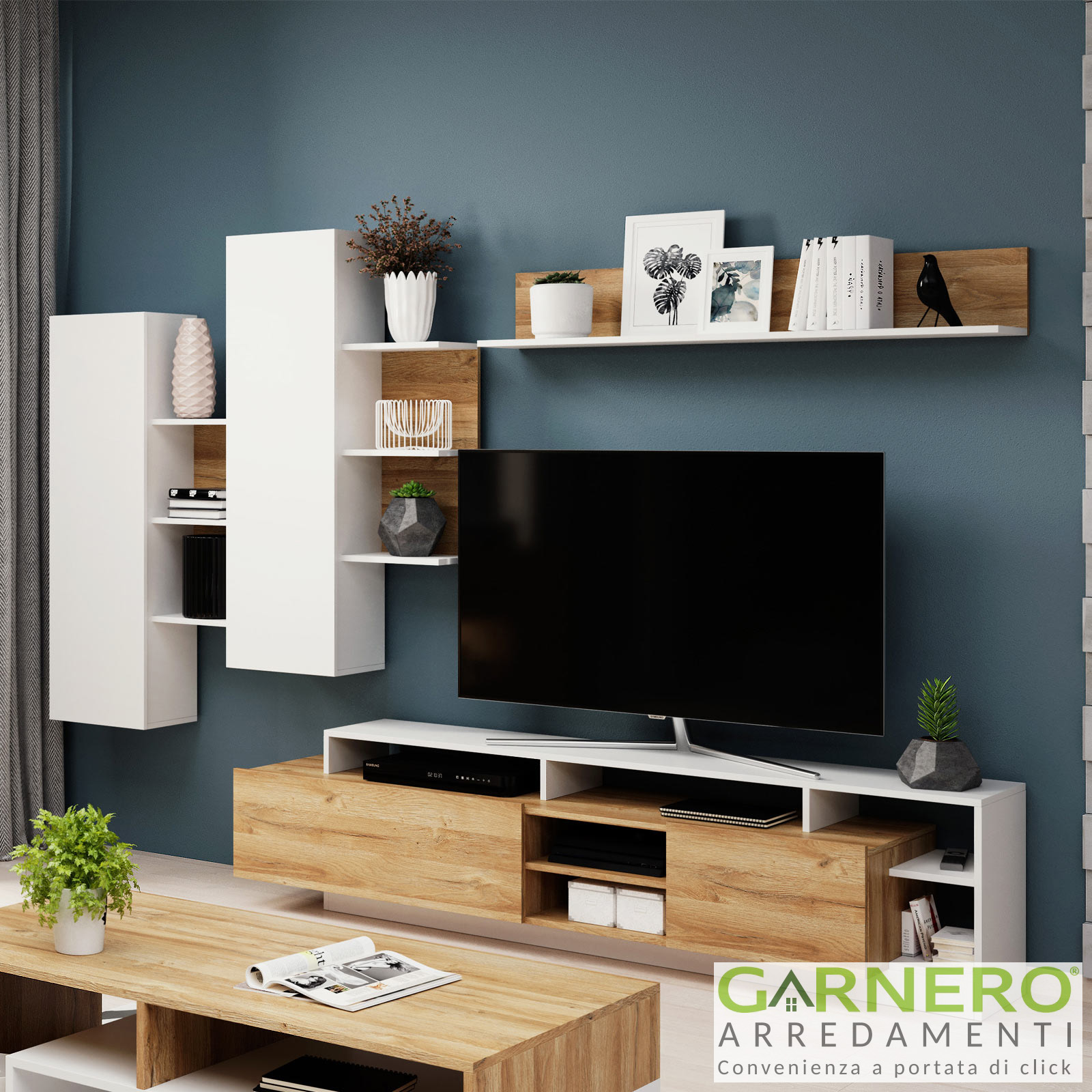 Mobili Da Soggiorno Bianchi dettagli su mobili soggiorno dora rovere bianco parete attrezzata porta tv  moderna design