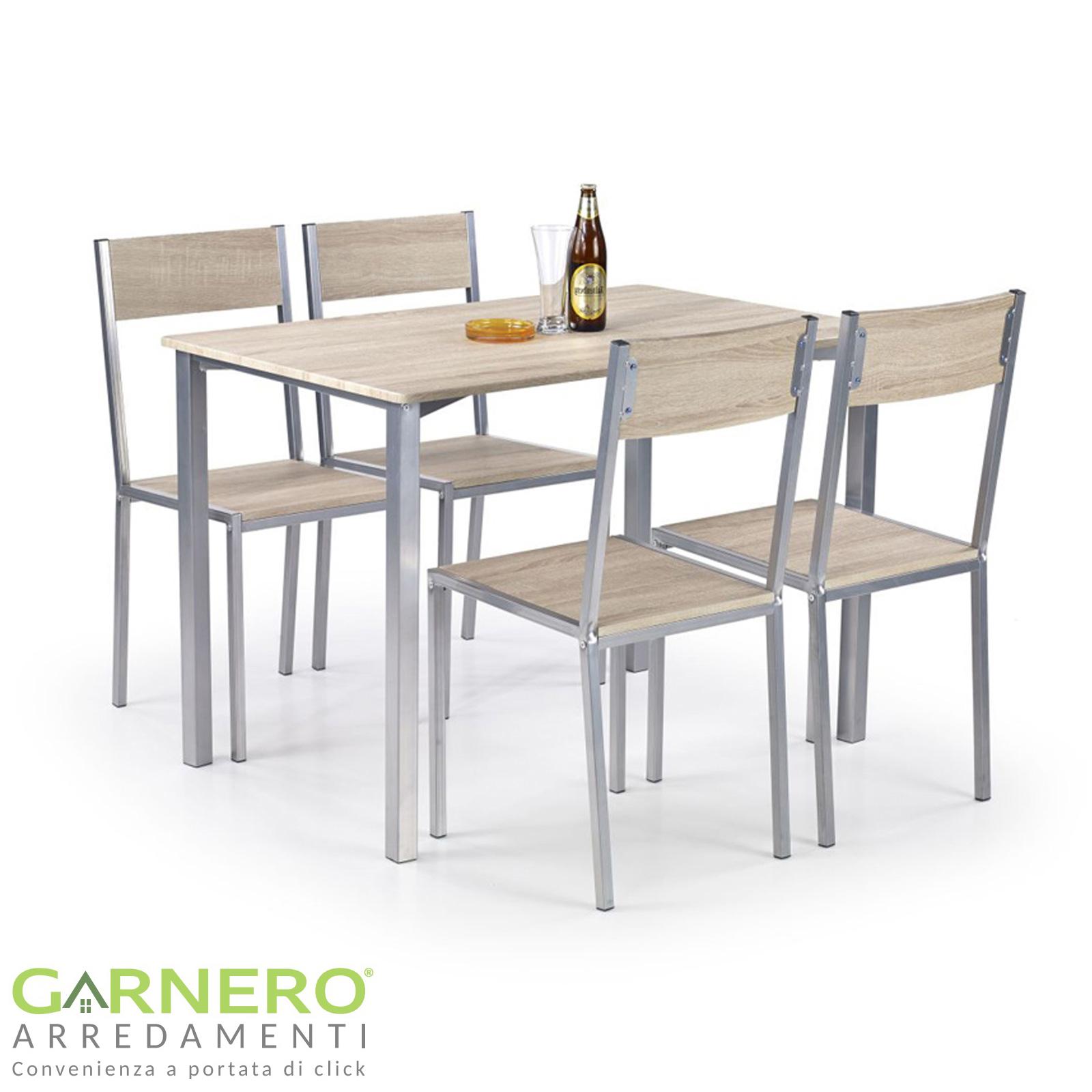 Tavolo Cucina 4 Sedie.Set Da Tavolo Compatto Da Cucina Tavolo Da Pranzo E 4 Sedie Set Da