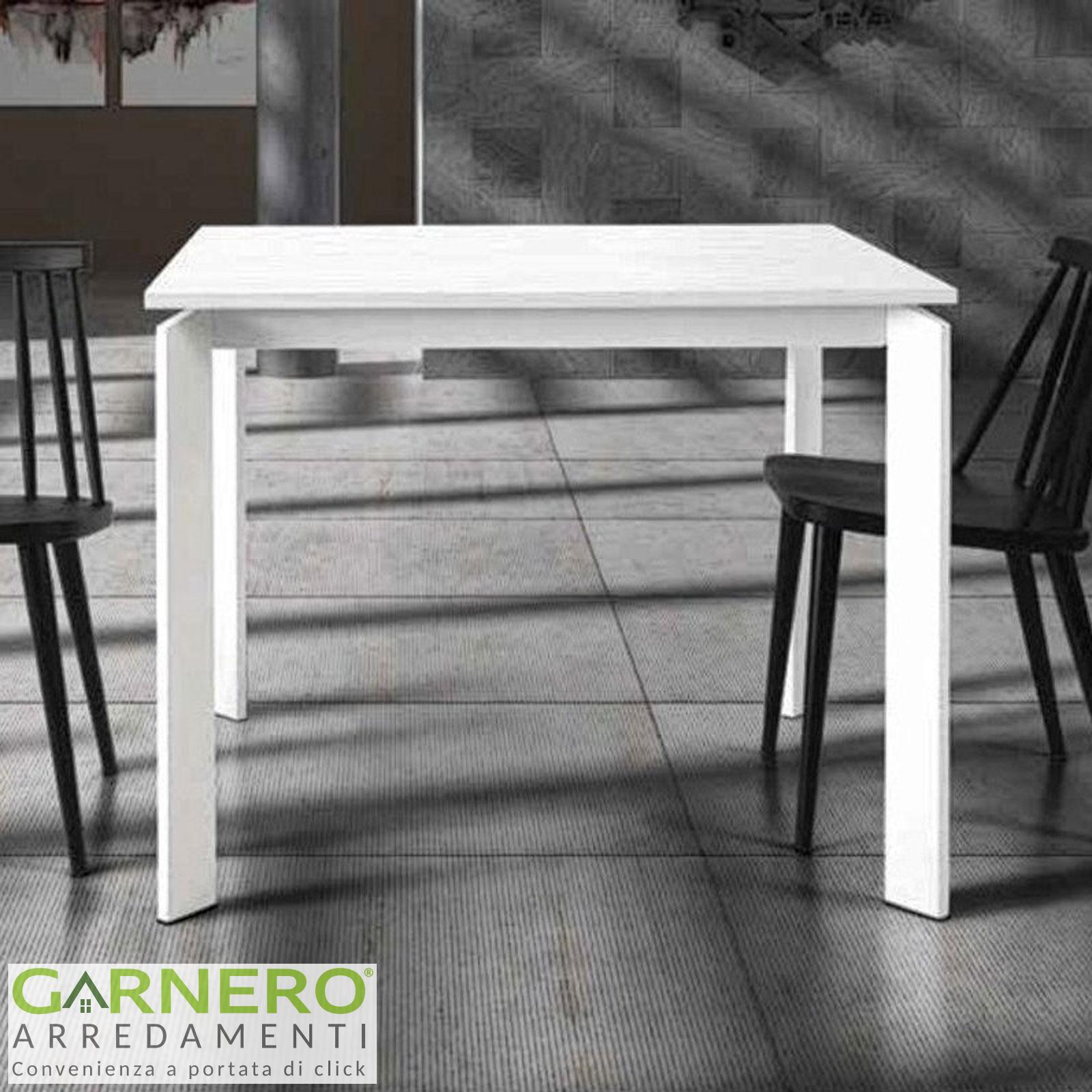 Tavoli Quadrati Di Design.Tavolo Quadrato Allungabile Dylan Gambe In Metallo Bianco Opaco