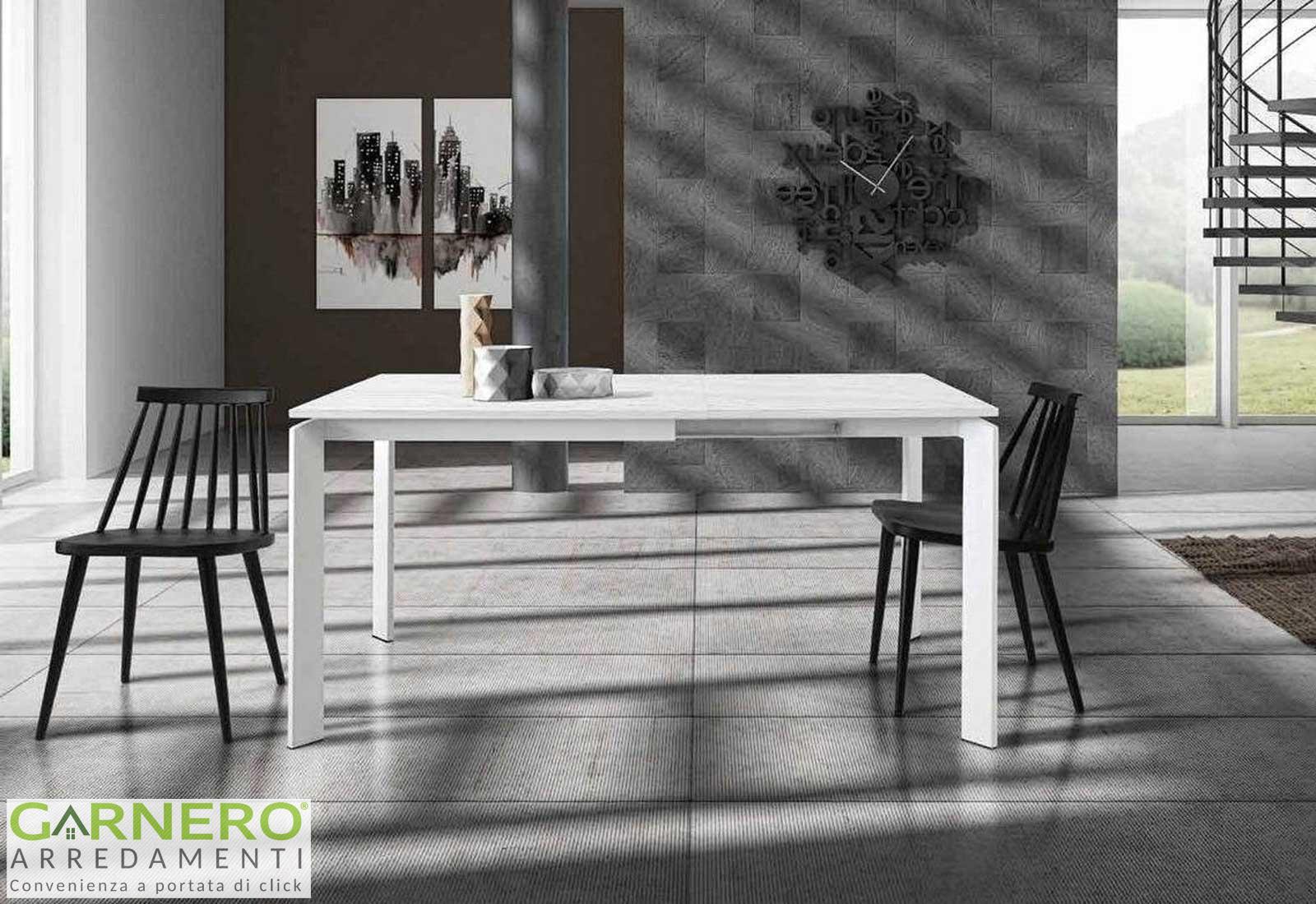 Tavolo Quadrato Allungabile Dylan Gihome Metallo Bianco Opaco Design Moderno Ebay
