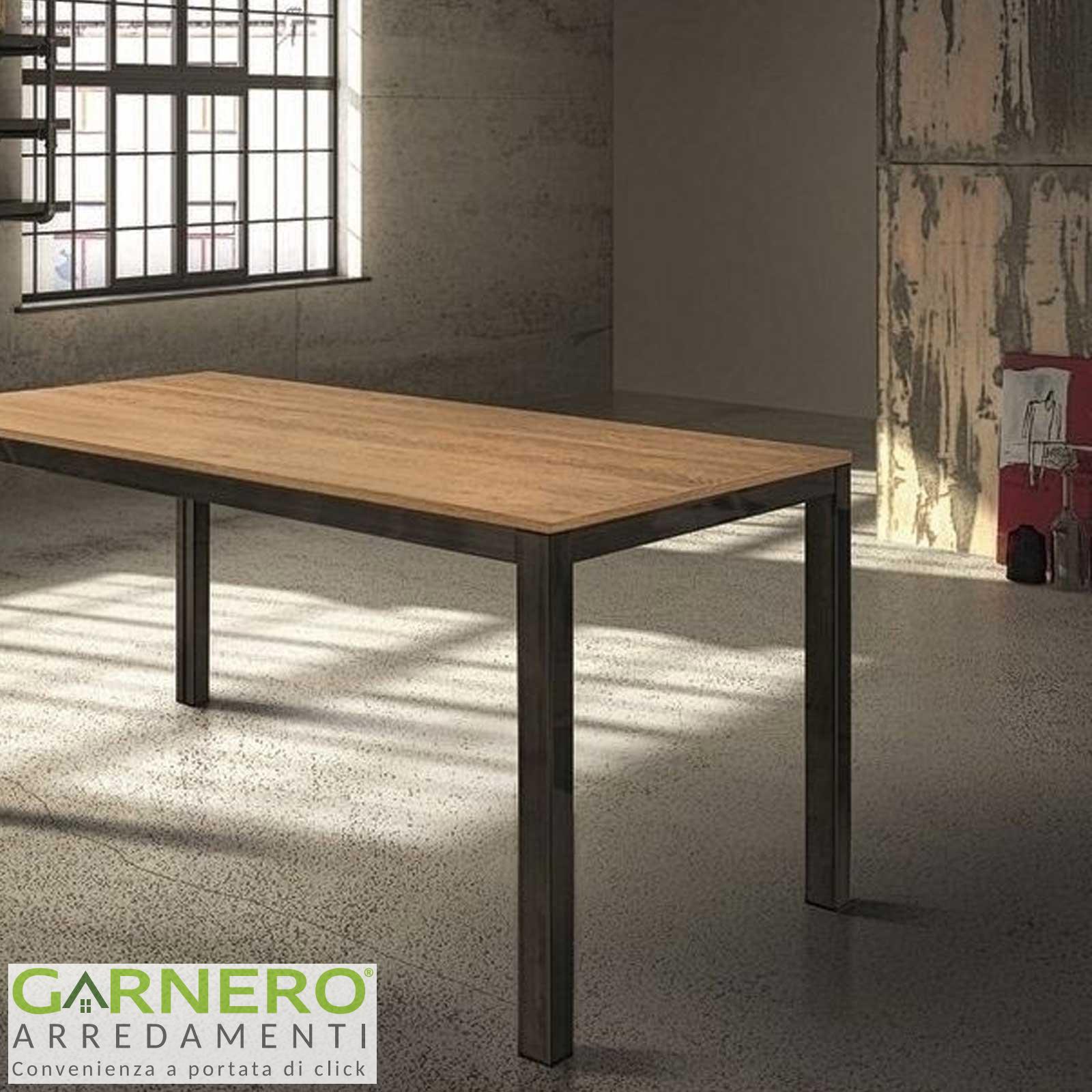 Dettagli su Tavolo vintage allungabile HENRY 140 cm metallo  anticato/rovere, legno, robusto
