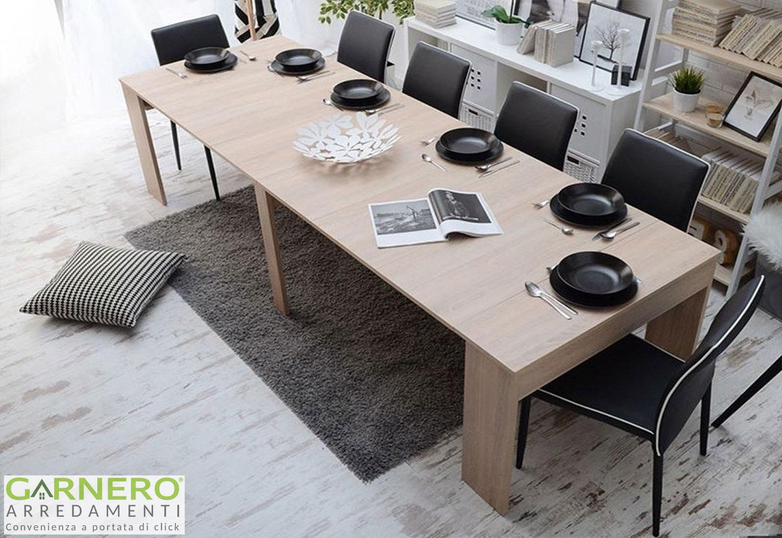 Tavolo Da Pranzo 3 Metri dettagli su tavolo consolle allungabile solaria gihome® 3 metri legno  estensibile pranzo