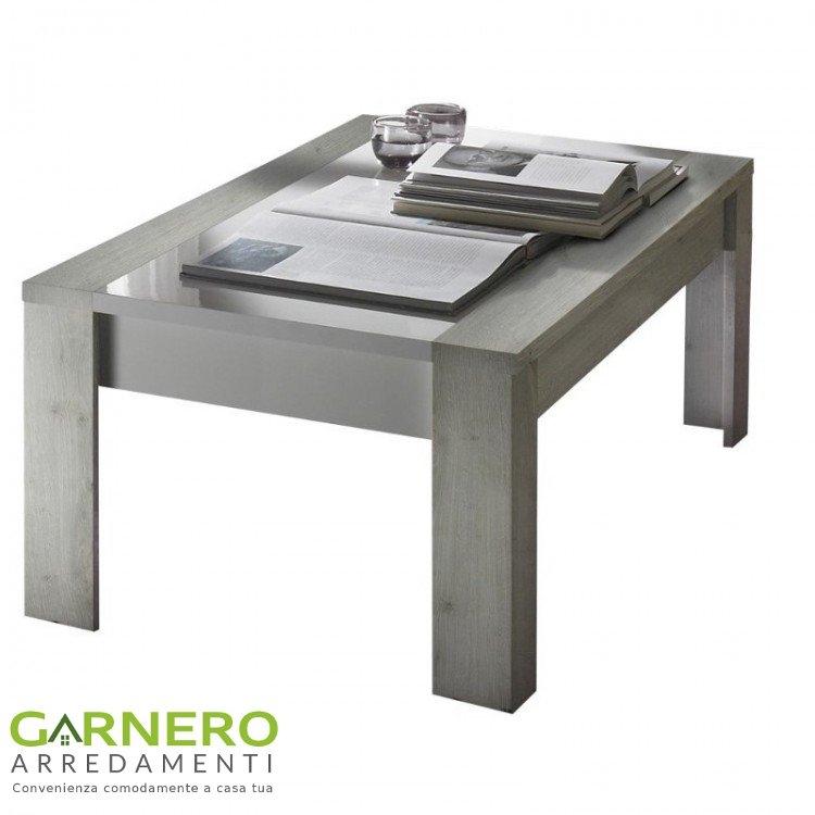 Tavolino da salotto mars finitura in pino bianco e piano for Garnero arredamenti consolle