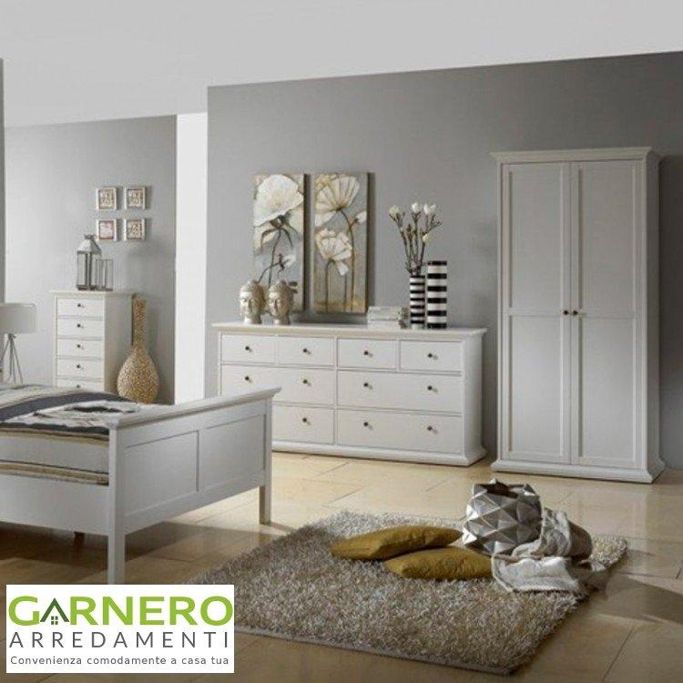 Armadio guardaroba 2 ante nancy bianco appendiabiti camera - Descrizione di una camera da letto ...