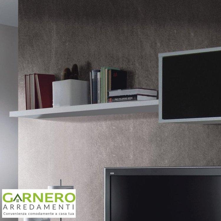 Parete attrezzata alba bianco nero lucido design moderno for Parete attrezzata design moderno