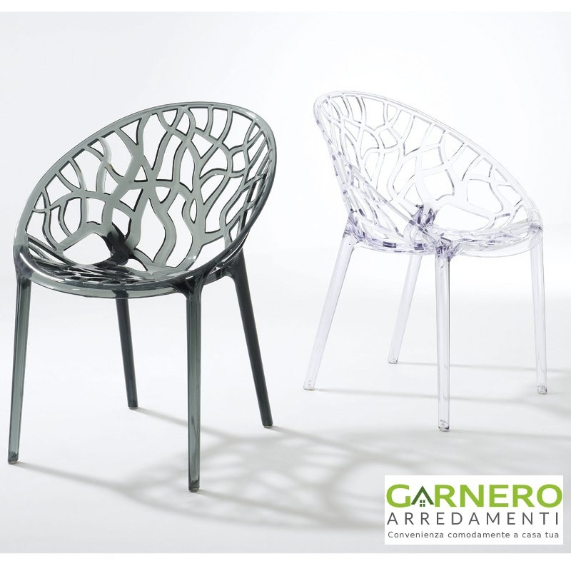 Sedia forest trasparente policarbonato seduta design - Sedia trasparente economica ...