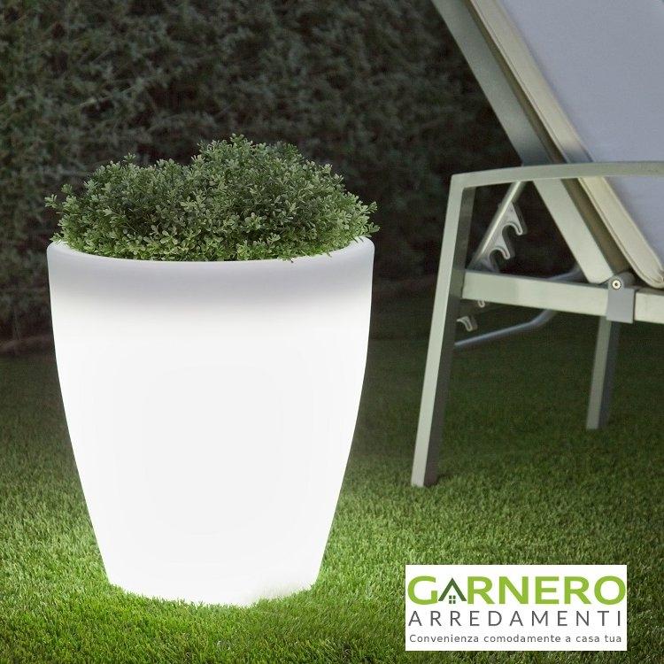 Vasi Bianchi Da Esterno Luminosi.Dettagli Su Vaso Luminoso Sunset Per Interno Esterno Antiurto Bianco Giardino Casa Locali