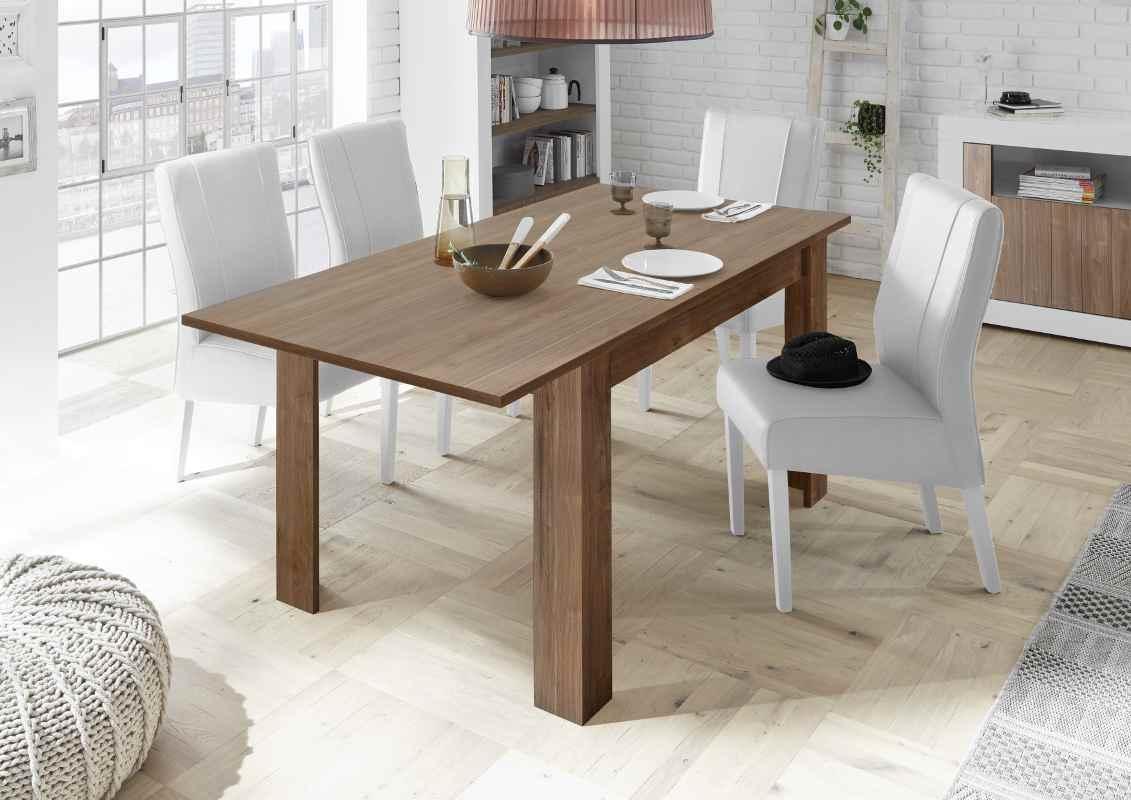 Dettagli su Tavolo allungabile Urbino 137x90 Noce Scuro tavolo design  moderno salotto