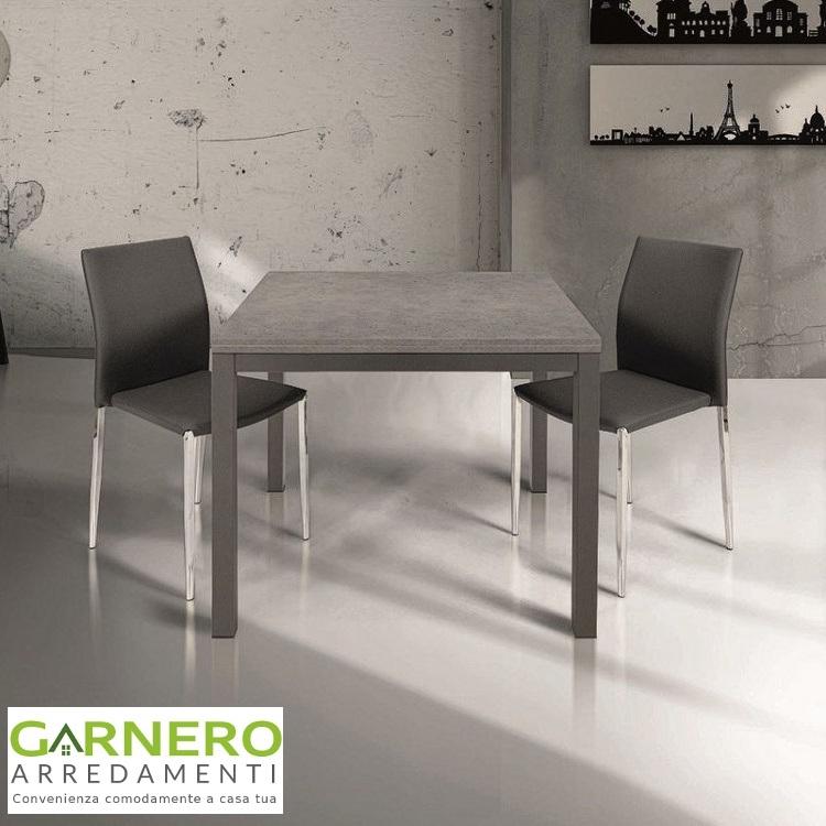 Tavolo Quadrato Allungabile a libro HARRY legno grigio | eBay