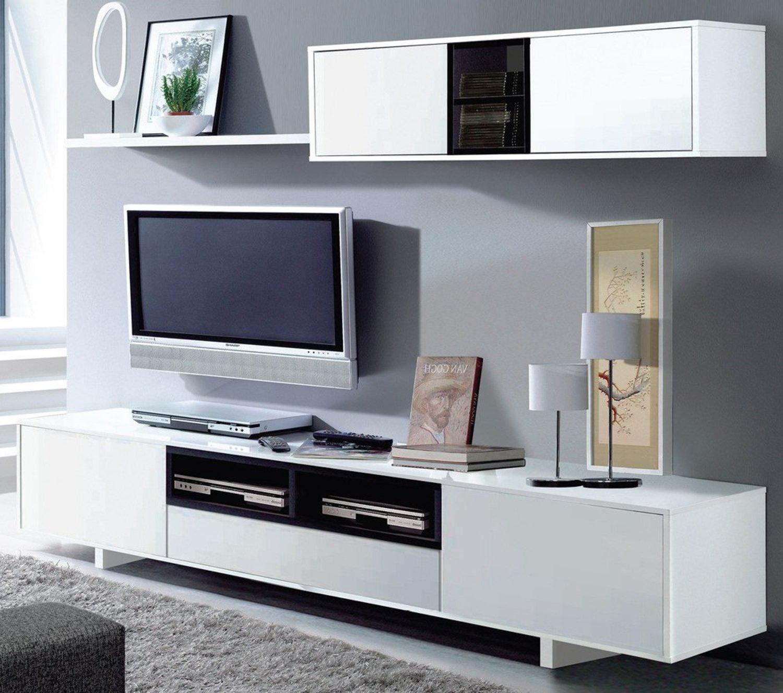 Parete attrezzata belle bianco e nero lucido design for Parete attrezzata design moderno