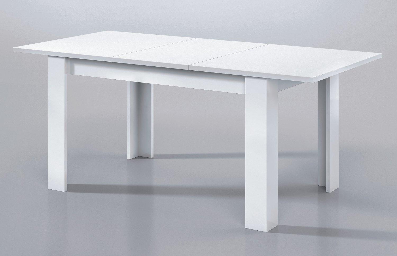 Tavolo allungabile afrodite rettangolare bianco lucido for Tavolo cucina bianco allungabile