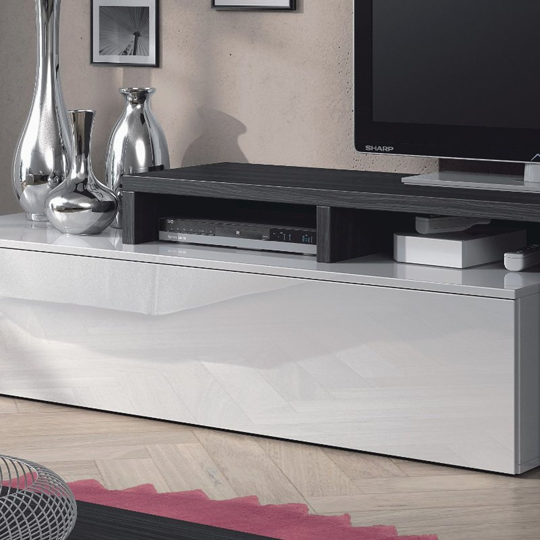 Parete attrezzata candy rovere grigio design casa for Parete attrezzata design moderno